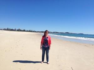 Wendy Perry on Kirra Beach